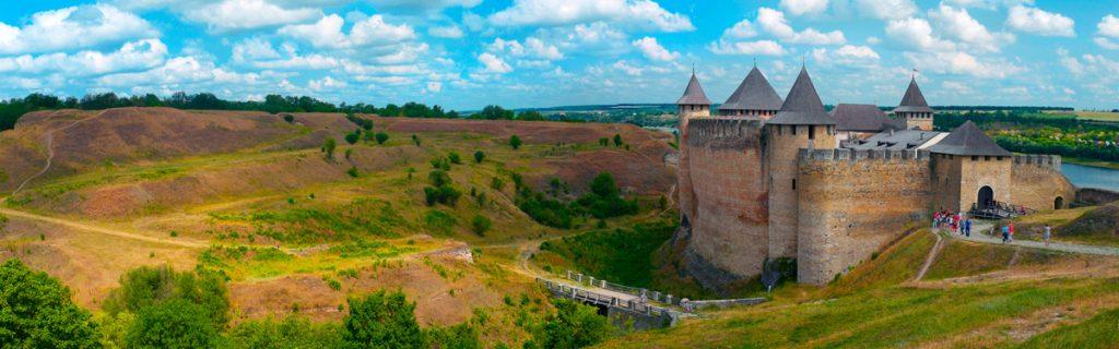 Хотин, крепость, Украина, природа