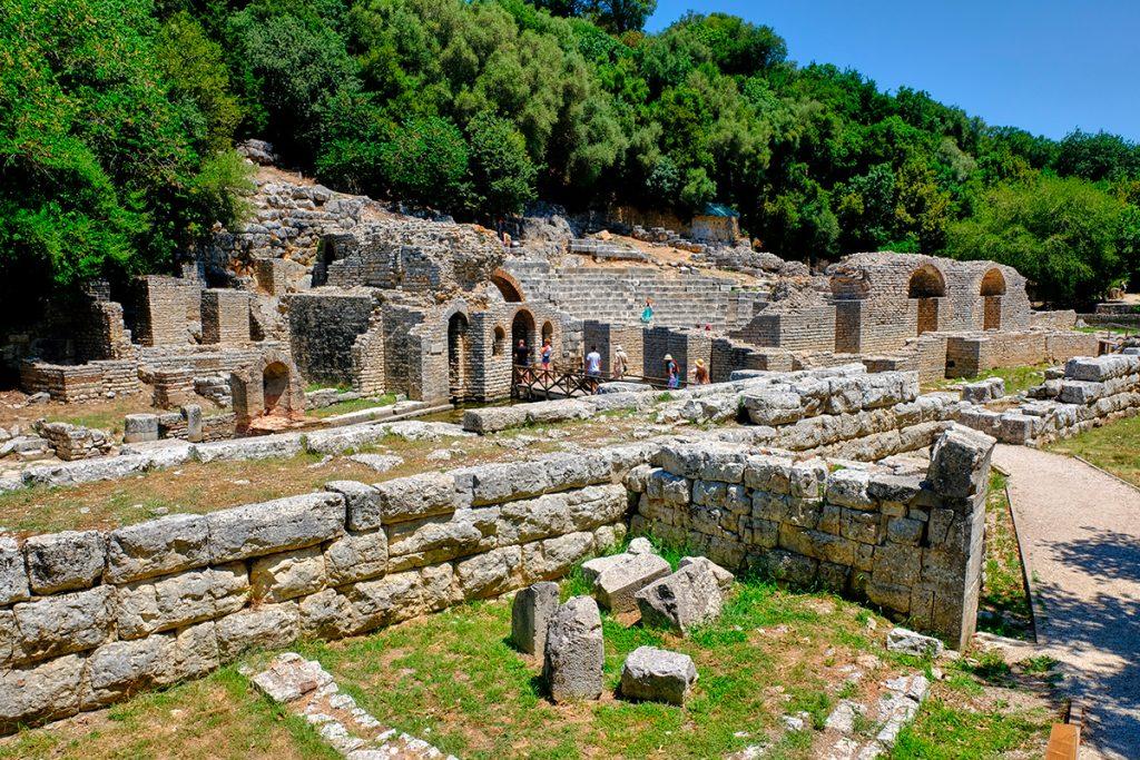 Бутринти, крепость, руины, ЮНЕСКО, Саранда , Албания, камень, стены, природа, путешествие, море