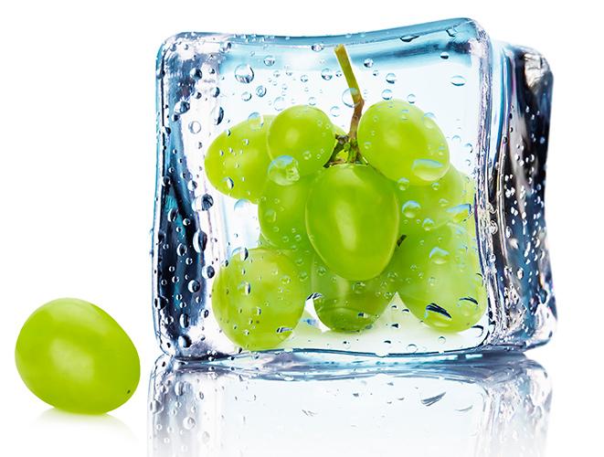 лед, виноград, косметика, красота