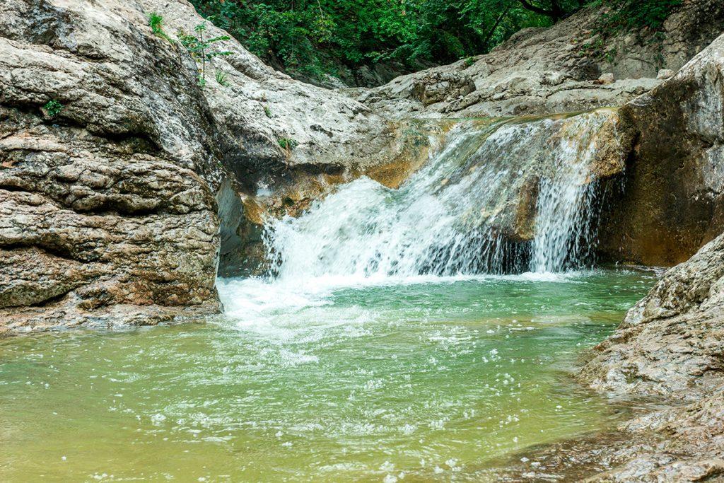 Большой каньон Крыма, Украина, Крым, река, природа, лето, путешествие, вода, водопад