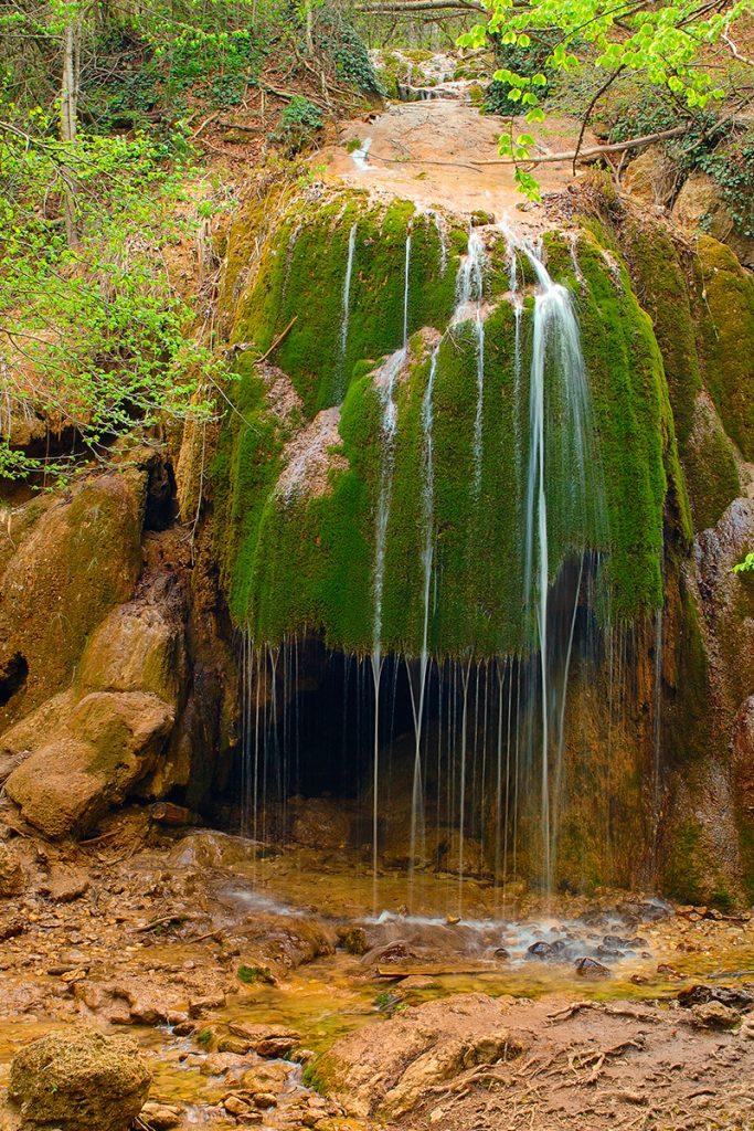 водопад Серебряные струи, Крым, осень, Украина. природа, путешествие