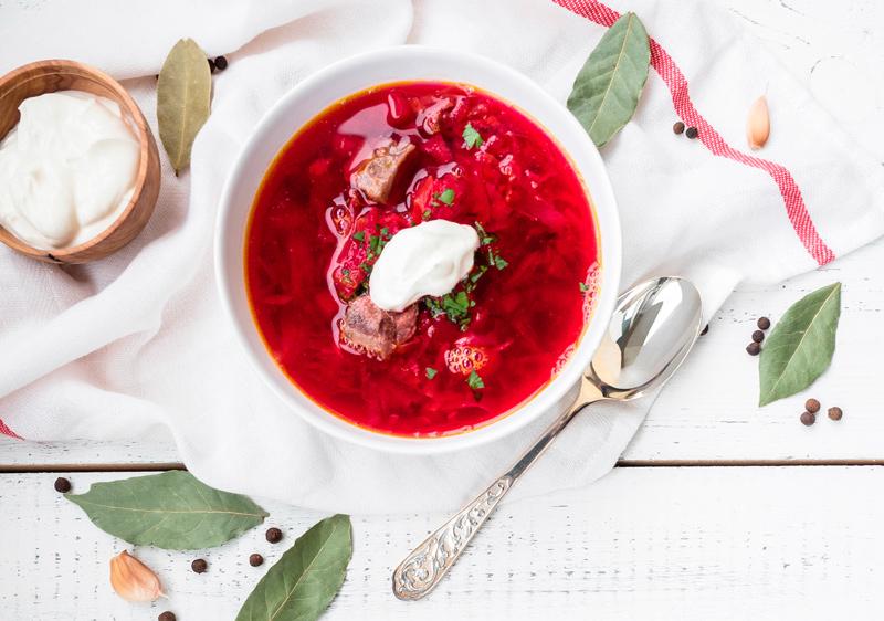 борщ, укрианская кухня, рецепт, факты, традиции, тарелка, еда,