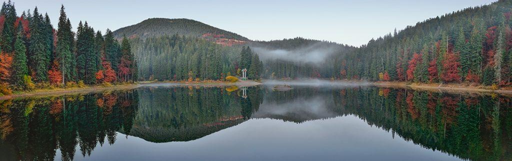 Синевир, озеро, Украина, осень, красота, путешествие, легенда, история, туман