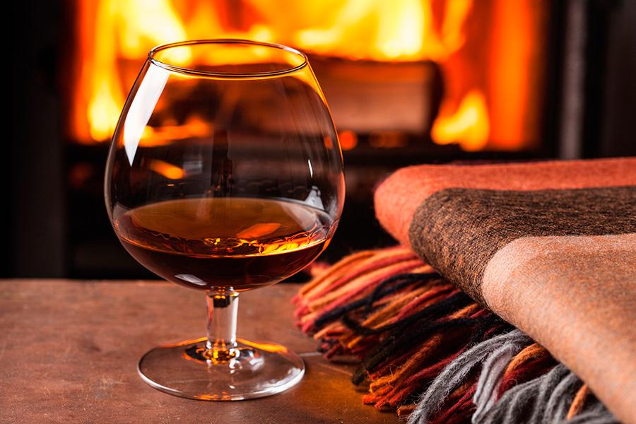 бокал, вино, виноград, тепло, осень