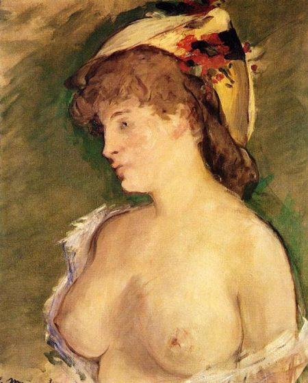 Блондинка с обнаженной грудью 1878г 62х52см Musée d'Orsay, Paris, France, Эдуард Мане