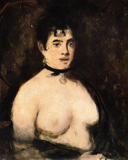 Брюнетка с обнаженной грудью 1872, Эдуард Мане