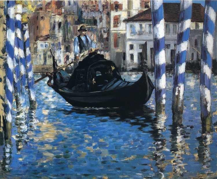 Мане Гранд канал в Венеции Синяя Венеция 1874 54х65 Shelburne Museum, Vermont, USA