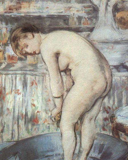 Эдуард Мане Женщина в ванной 1878г 54х45см Musée d'Orsay, Paris, France