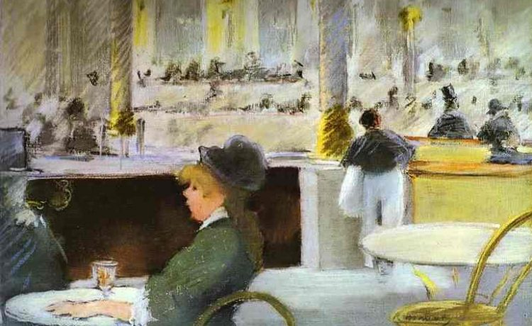 Эдуард Мане Интерьер в кафе 1880г Glasgow Museums and Art Galleries, Glasgow, UK