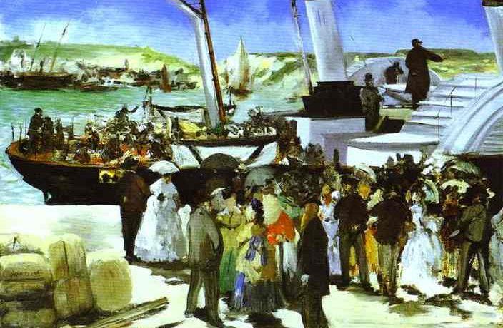 Эдуард Мане, Отплытие лодки из Фолкстоне 1869г 51х69см Philadelphia Museum of Art, Philadelphia, PA, USA