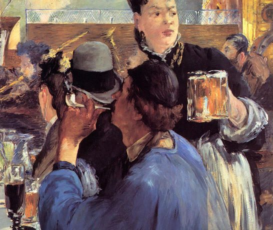 Эдуард Мане Угол в кафешантан 1880г 91х77см National Gallery, London, UK