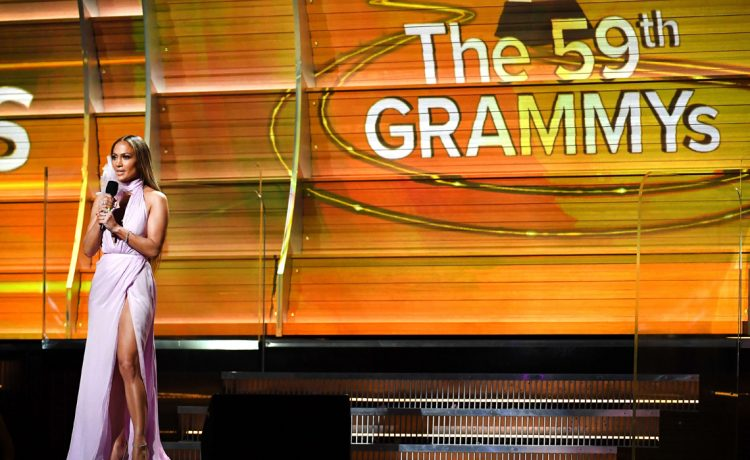 Jennifer Lopez the 59th Annual Grammy music Awards