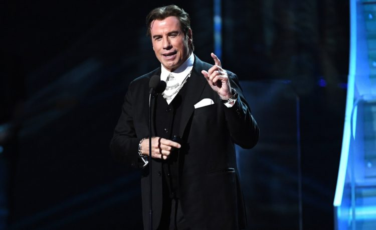 John Travolta the 59th Annual Grammy music Awards