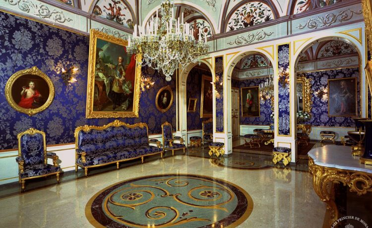Монако, дворец Монако, династия Гримальди, интерьеры дворца