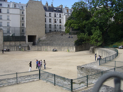 Arènes de Lutèce, Арены Лютеции, гладиаторы, Париж, Латинский квартал