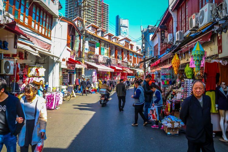 Шанхай китай старые улицы