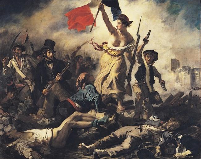 "Делакруа, картина, ""Свобода на баррикадах"""