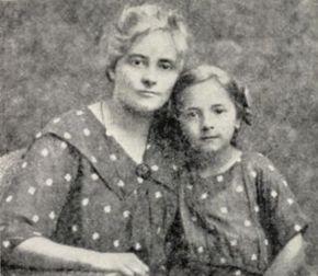 Жена Ольга и дочь Леся Петлюра