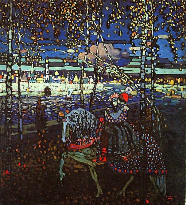 Василий Васильевич Кандинский, Двое на лошади, картина, художник, 1906