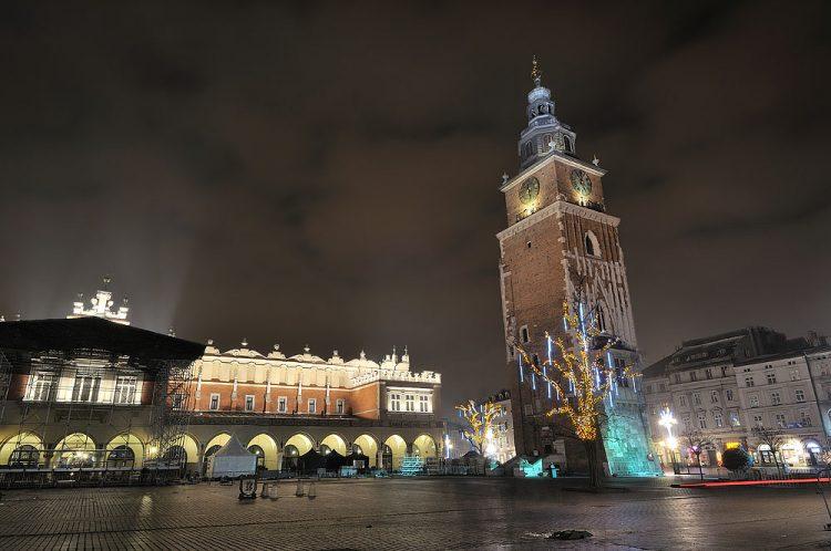 Марьяцкий костел, Краков, Польша, Новый год
