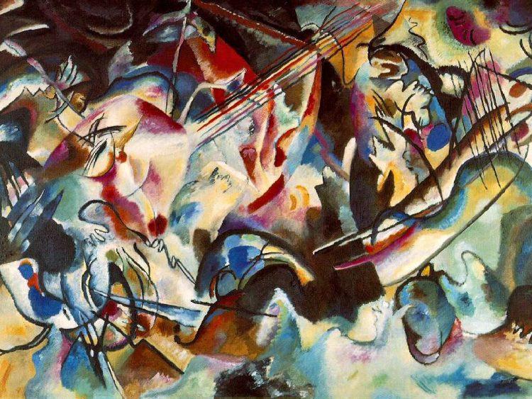 Кандинский, картина, Композиция VI, композиция 6, наводнение