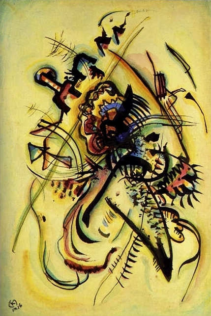 Кандинский, картина, Незнакомому голосу