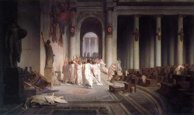 Убийству Цезаря посвящены множество картин известных художников