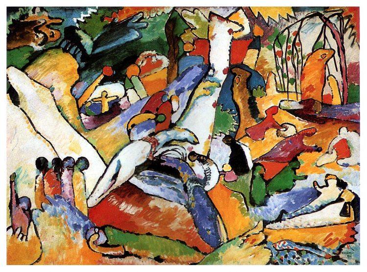 Кандинский, картина, композиция два, композиция 2, композиция II
