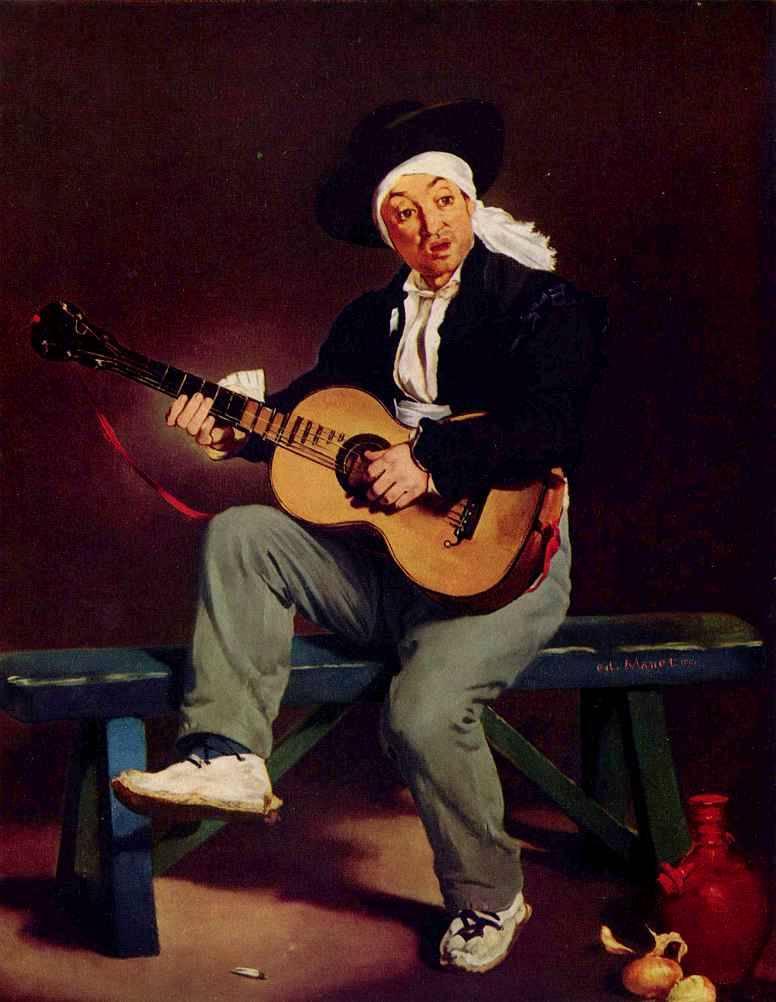 Гитарреро или испанский гитарист Эдуарда Мане