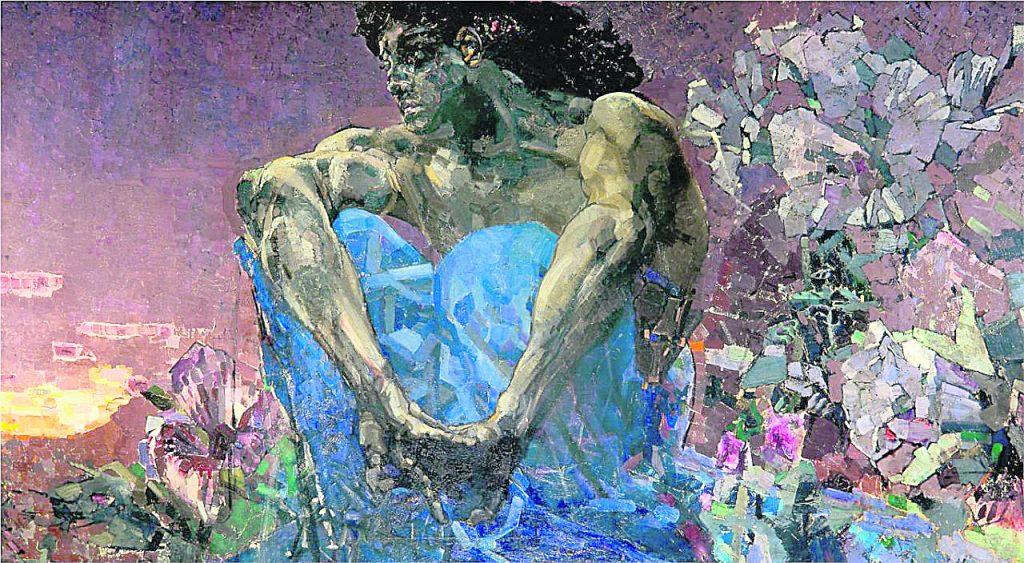 Демон (Денница) картина Врубель