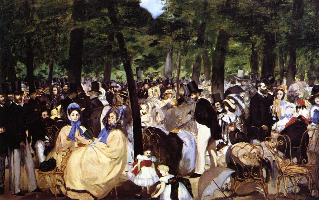 Картина Мане Музыка в саду Тюильри