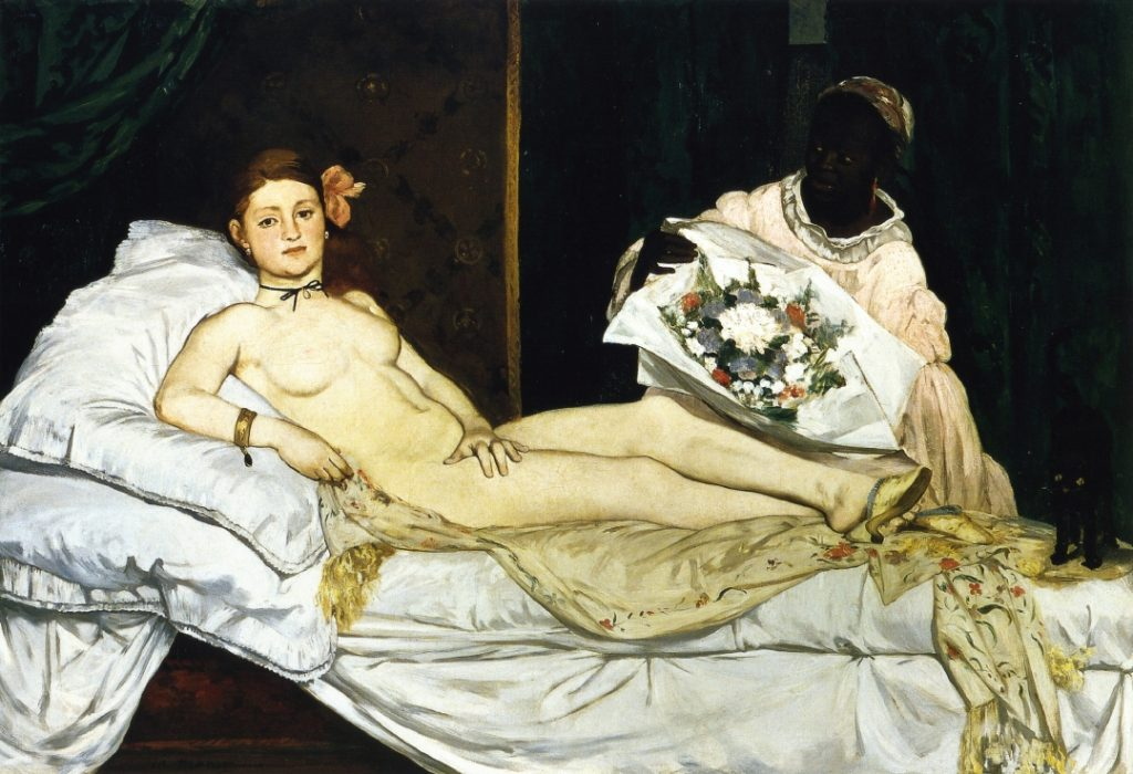 Олимпия 1863г 130х190см Musée d'Orsay, Paris, France Эдуард Мане