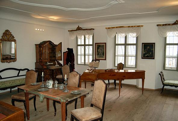 Дом в Зальцбурге, где родился Вольфганг Амадей Моцарт