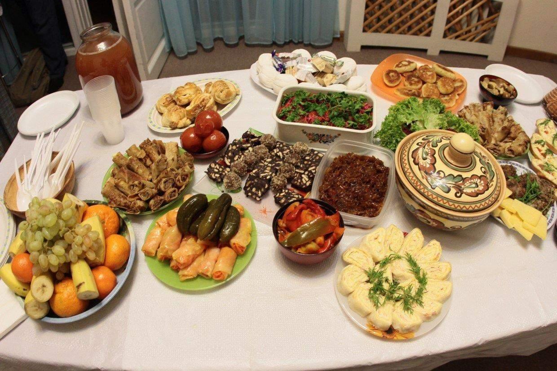 Рождествеский стол, 12 блюд, Рождество
