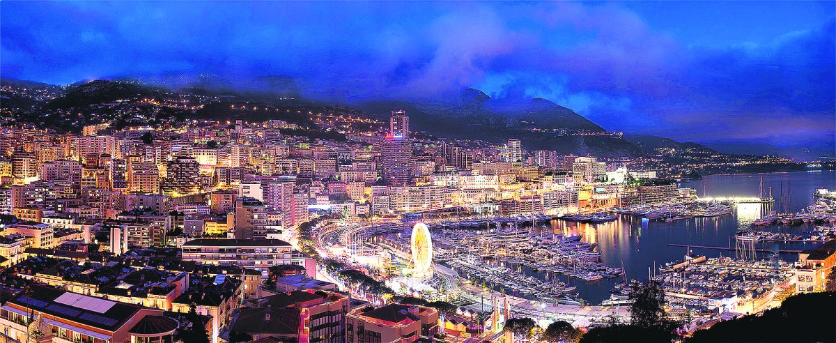 Монако, Гримальди, бухта Эркюль, панорама Монако