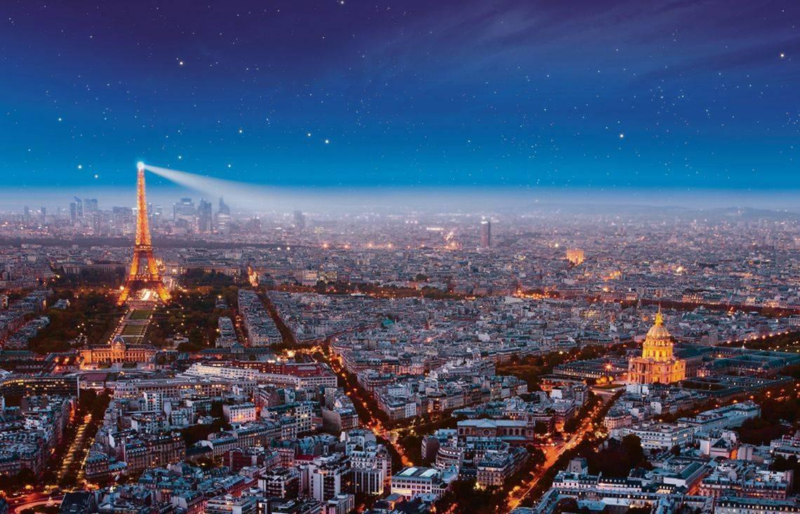 Достопримечательности Парижа с высоты птичьего полета
