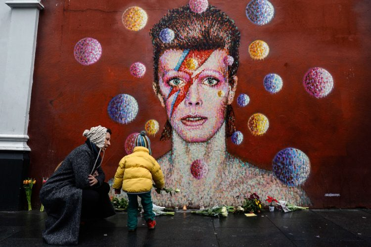The late David Bowie was honored at the 59th annual Grammy Awards