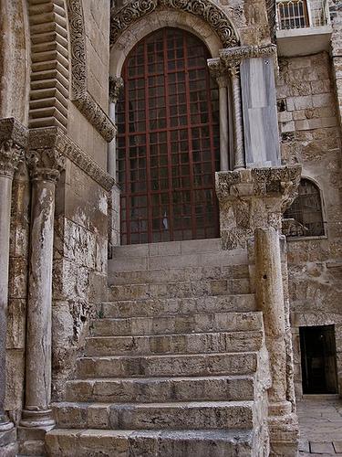 Предел Деления Риз, часовня снятия риз, десятая остановка, голгофа, храм гроба господня