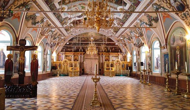 Церковь, пустой храм, православный храм, тишина в храме
