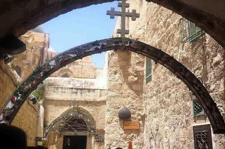 Девятая остановка Христа, виа Долороза