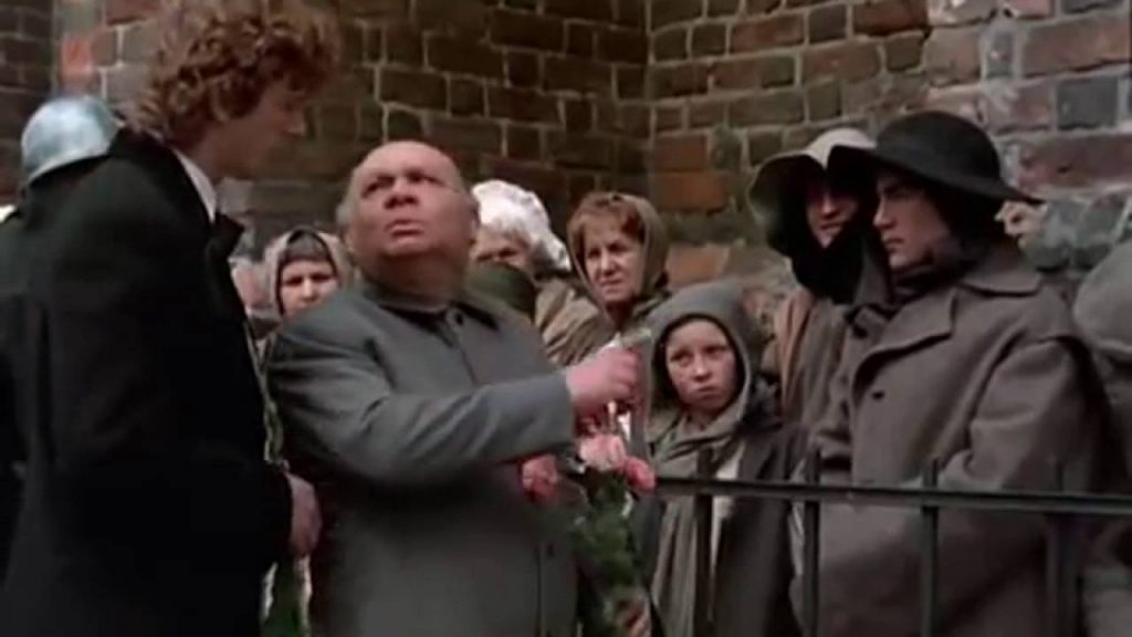 Леонов в роли бургомистра, фильм Убить дракона