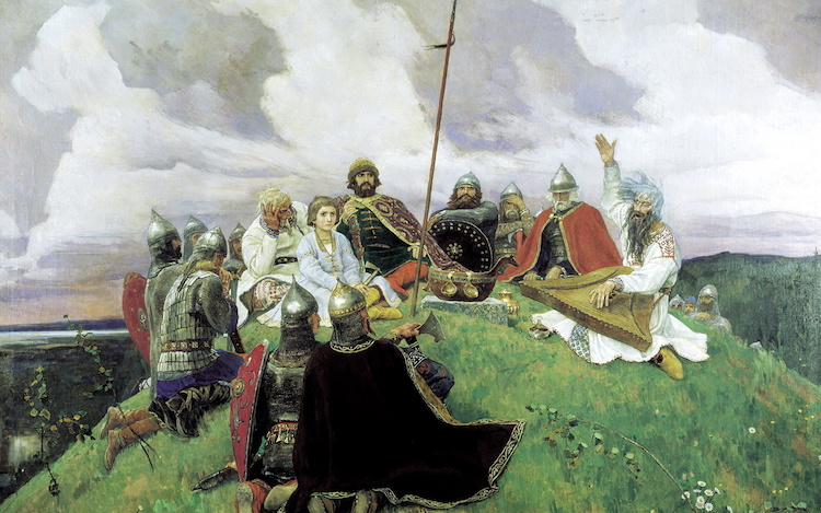 Васнецов, картина, слово о полку игореве