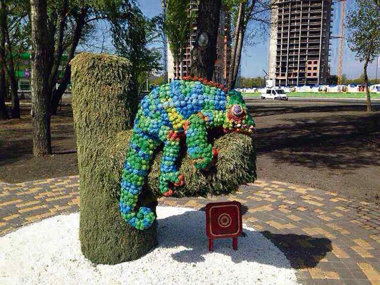 Место для селфи в Киеве хамелеон