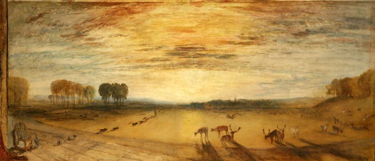 живопись, Уильям Тернер, картина Парк в Петуорте