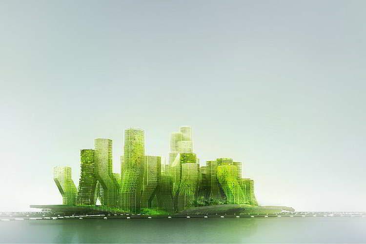 Архитектура будущего, проект города на воде X Sea TY, футуризм
