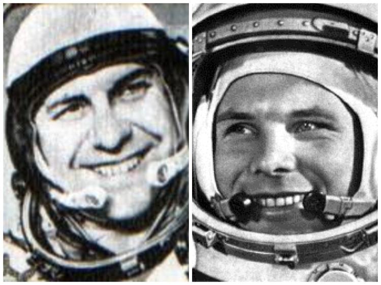 Юрий Гагарин, Павел Попович, космонавты, космос, дружба