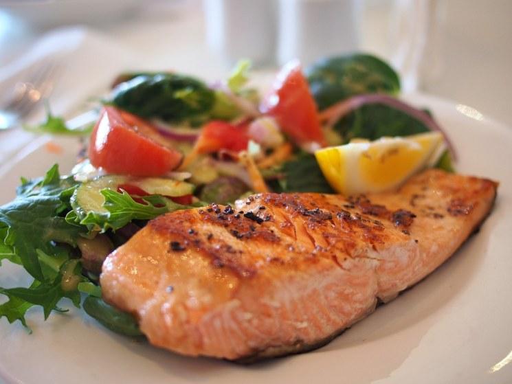 правильное питание, здоровое питание, ЗОЖ, рыба, салат