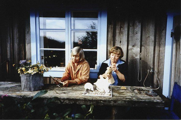 Туве Янссон с подругой Тууки, нетрадиционный брак