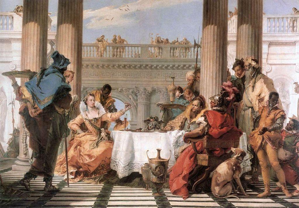 Батиста, картина Пир Клеопатры, Клеопатра