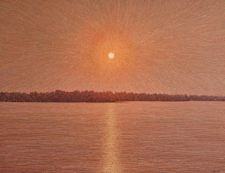 иван марчук, картина, восход солнца над днепром